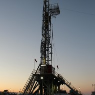 Rig at Evening (vertical)