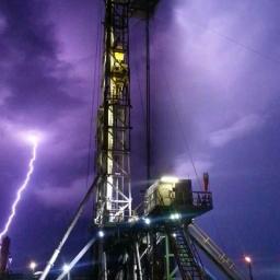 Rig During Lightning Storm